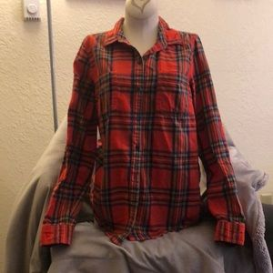 Old Navy Red Plaid Flannel